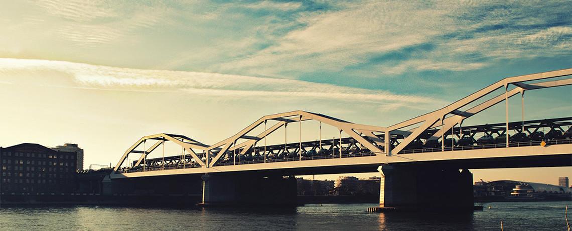 Bahnübergang von Mannheim nach Ludwigshafen