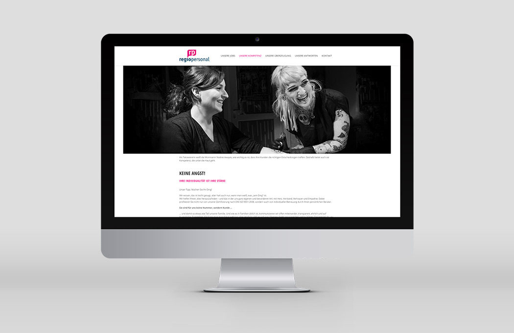 Website auf Basis von Wordpress