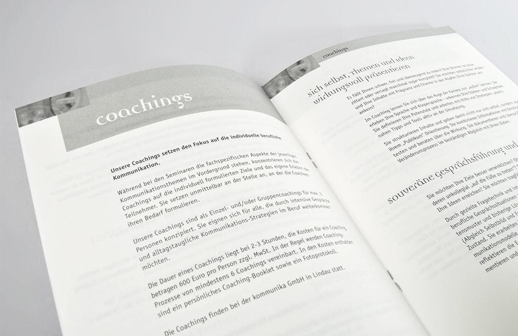 Details aus dem inneren der Broschüre