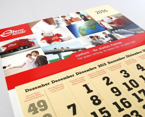 Kalendarium und Deckblatt des confern Kalenders